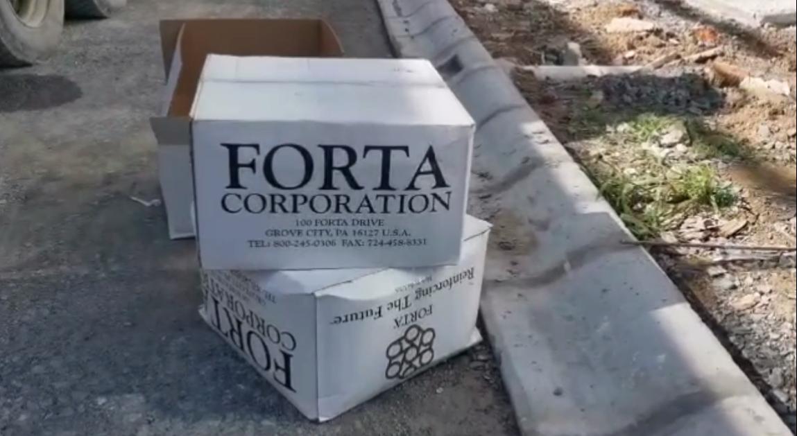 Forta Ferro instead of BRC steel.