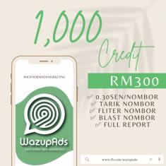 WAZUP ADS : BASIC 1,000 CREDIT