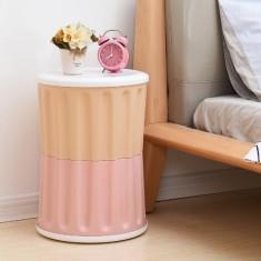 Multipurpose Kids Chair Storage Stool with Plastic Seat