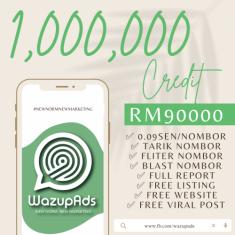 WAZUP ADS : PLATINUM-C 1,000,000 CREDIT