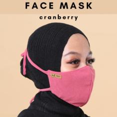 Face Mask - Cranberry