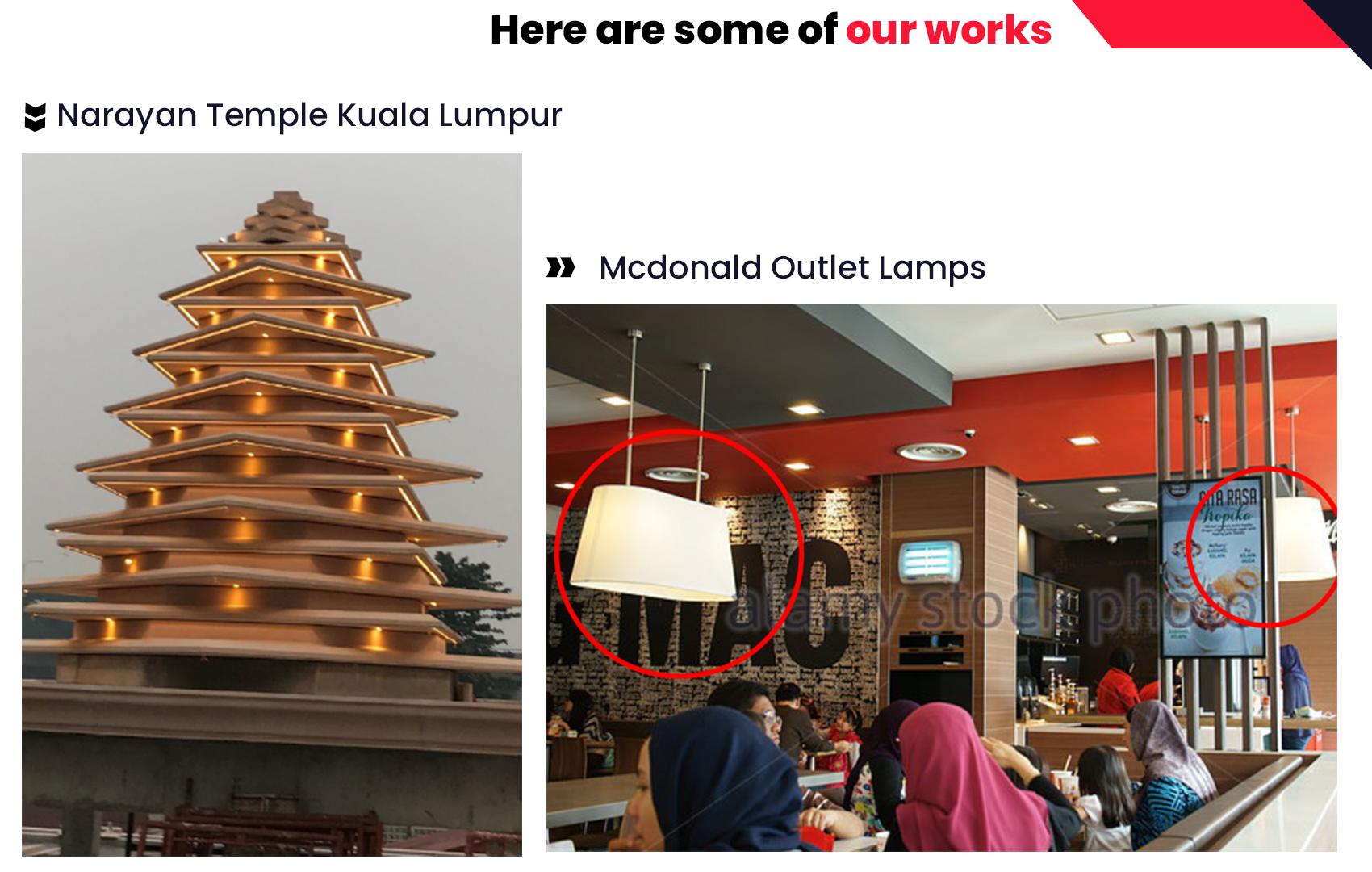 Kapoor Lamps Custom Made Lightings Example Shades Kuala Lumpur Selangor