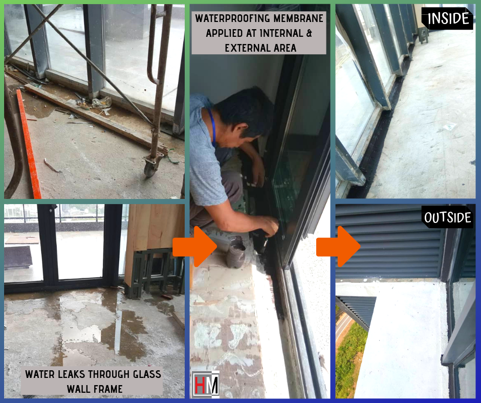 WATERPROOFING AT HIGH-RISE BUILDING