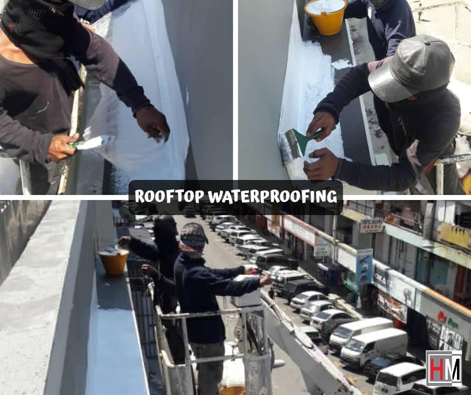 Waterproofing at Segama Rooftop