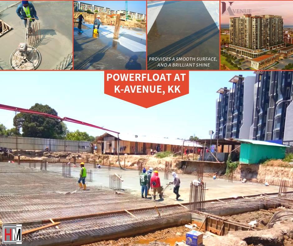 POWER FLOAT PROJECT REFERENCE AT K-AVENUE KOTA KINABALU