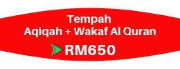 Tempah Aqiqah & Wakaf Al Quran Mekah