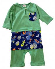 Jumper Romper Baju Melayu Sampin Baby Boy Green