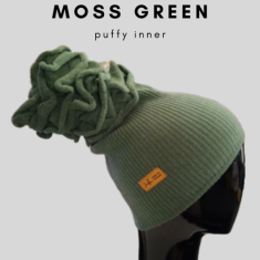 Puffy - anak tudung - Moss Green (limited edition)