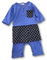 Jumper Romper Baju Melayu Sampin  Baby Boy Purple Blue